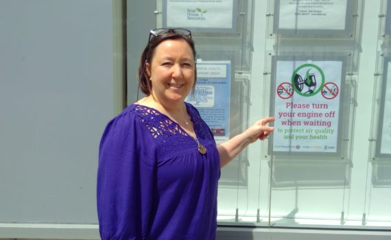 Clean Air Day poster in Gillygate