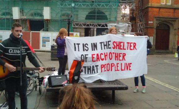 Homelessness demonstration