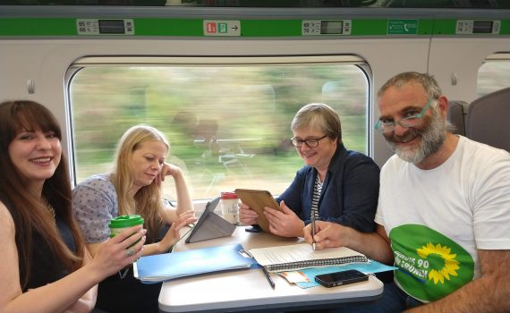 Tom Franklin travelling to conference with Sian Berry, Amelia Womack and Caroline Russell