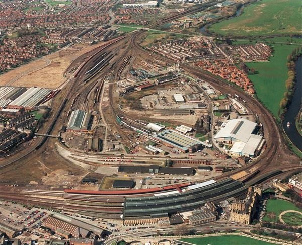 Arial view of York Central