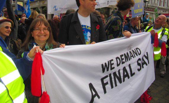 We demand a final say - banner