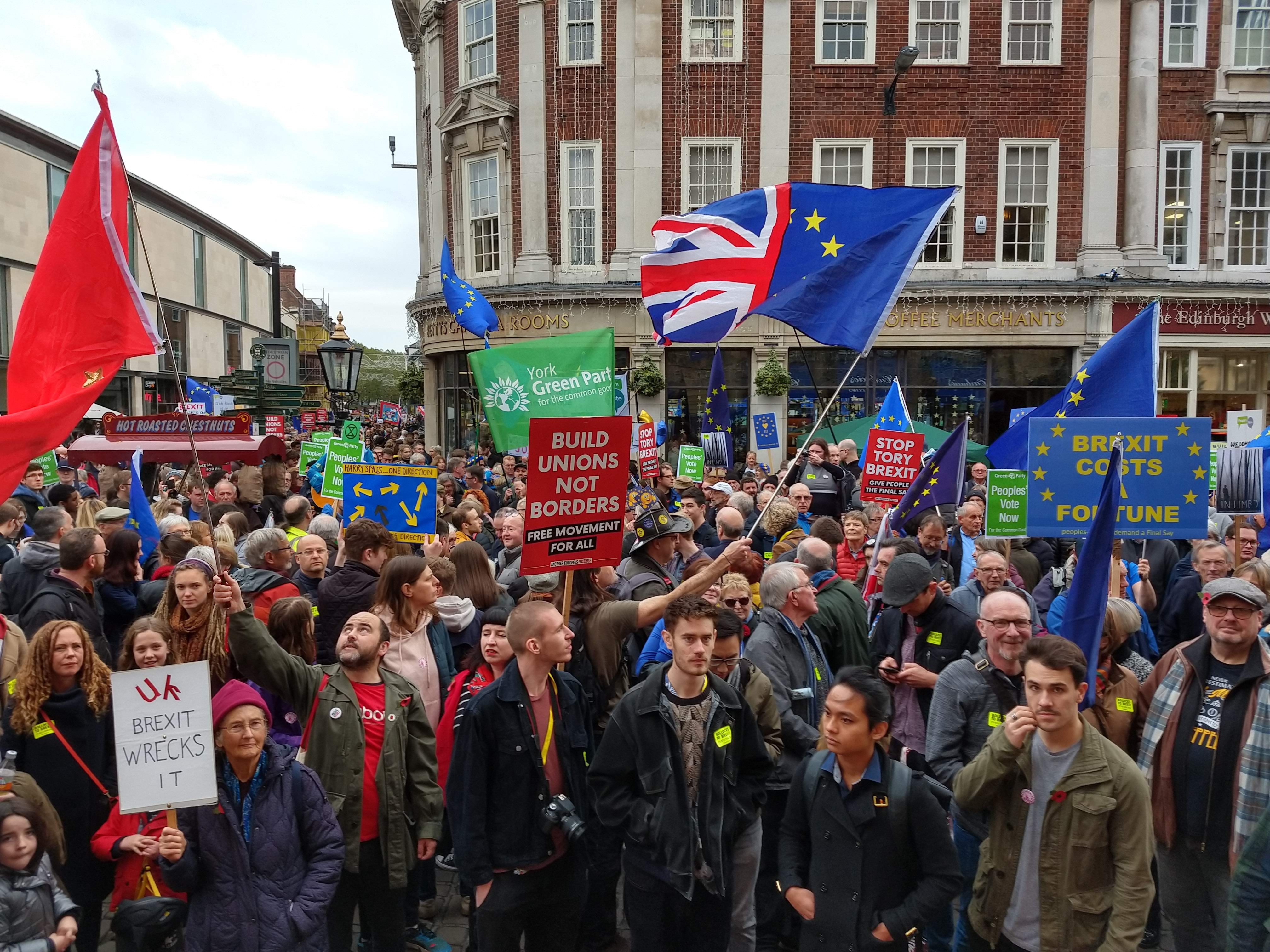 People's Vote Now demonstration in St Helen's Square