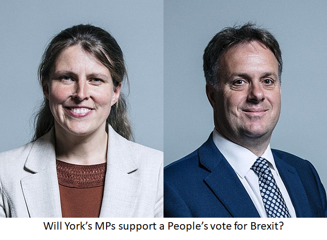 Will York's MPs (Rachael Maskell and Julian Sturdy) support a People's Vote for Brexit?