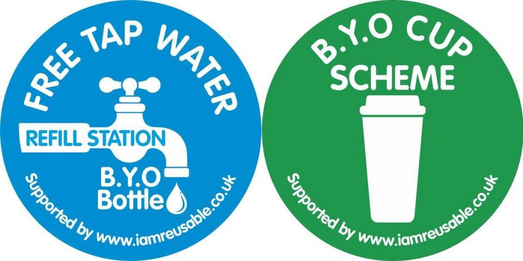 Free Tap Water / BYO cup scheme logos