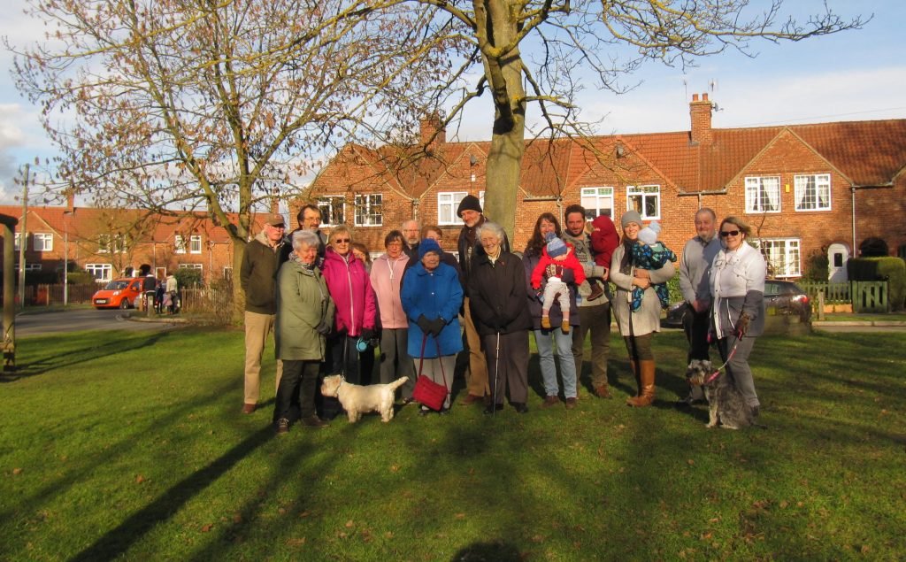 Andy D'Agorne with campaigners to save Fulford Cross Green