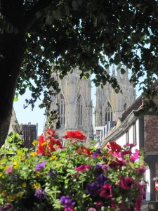 York Minster with flowers