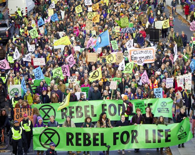 Extinction rebellion demonstration
