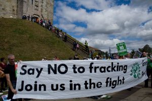 No fracking demo - Clifford's Tower
