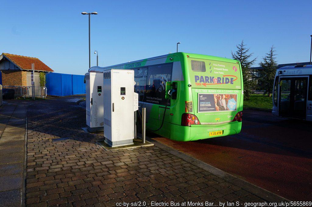Bus recharging at Monks Cross
