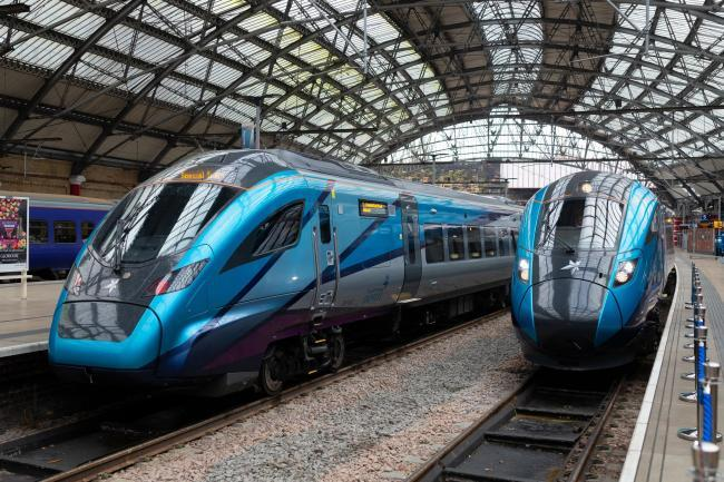 New Transpennine Express trains at York station