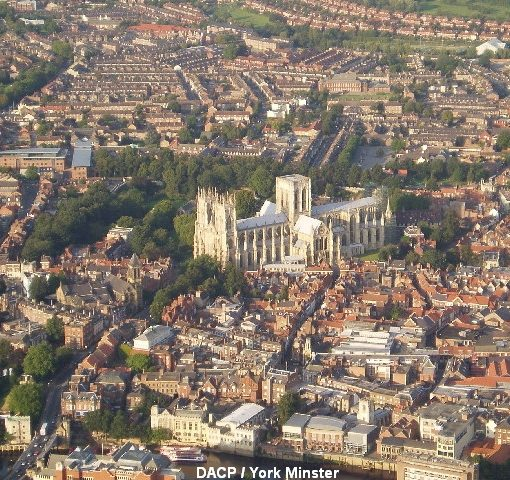Arial view of York with Minster