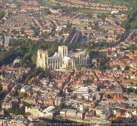 Ariel view of York