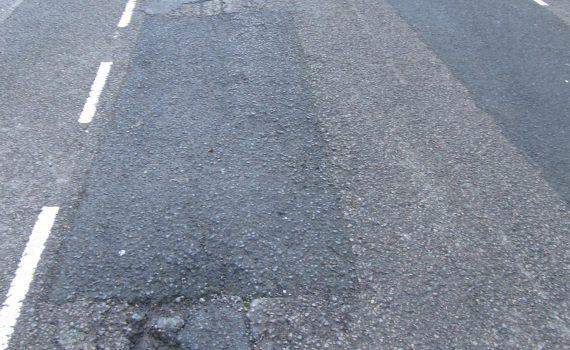 Potholes in Grange Streeet