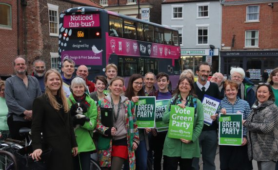 Sian with York Greens on Merchantgate